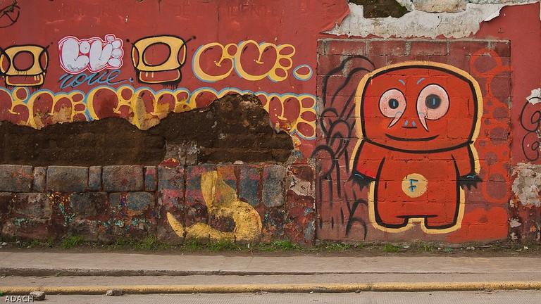Graffiti on a wall in Xela