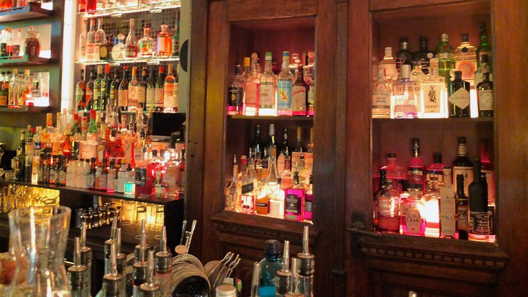 The well-stocked bar at Limonadier