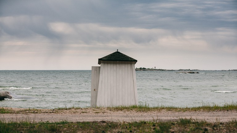 Hanko is a popular seaside town with beautiful blue colours