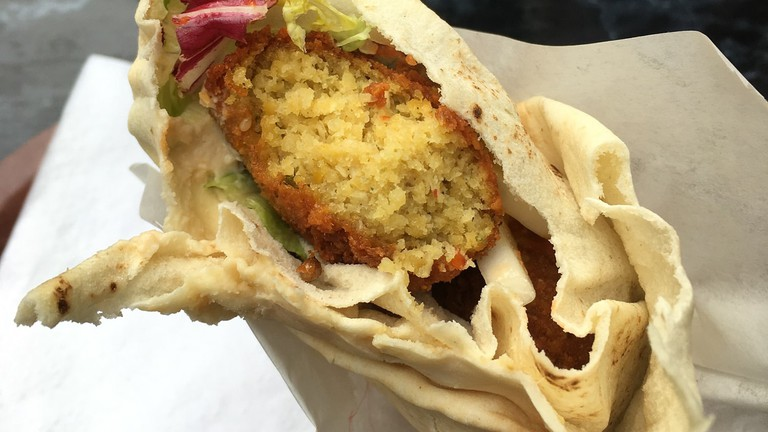 Vegan falafel wraps at Esra, Berlin