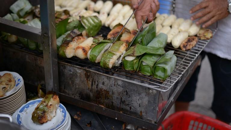 Chuoi nuong