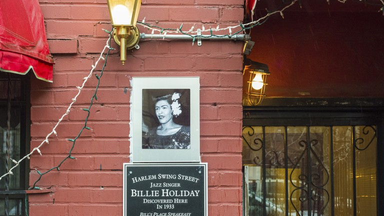 Bill's Place is located on the bottom floor of a brownstone in Harlem
