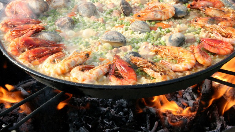 Paella is a regional speciality from Valencia