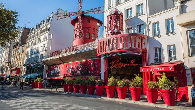 The Moulin Rouge in Montmartre Paris, France,