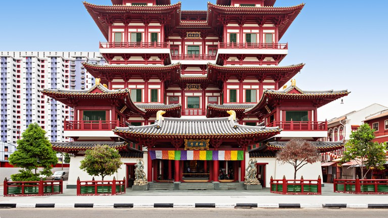 The Buddha Tooth Relic Temple is a Buddhist temple located in the Chinatown district of Singapore