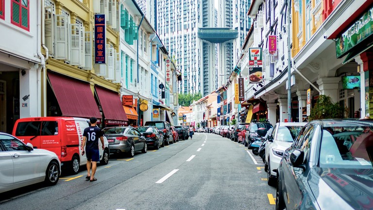 Keong Saik Road in Chinatown, Singapore