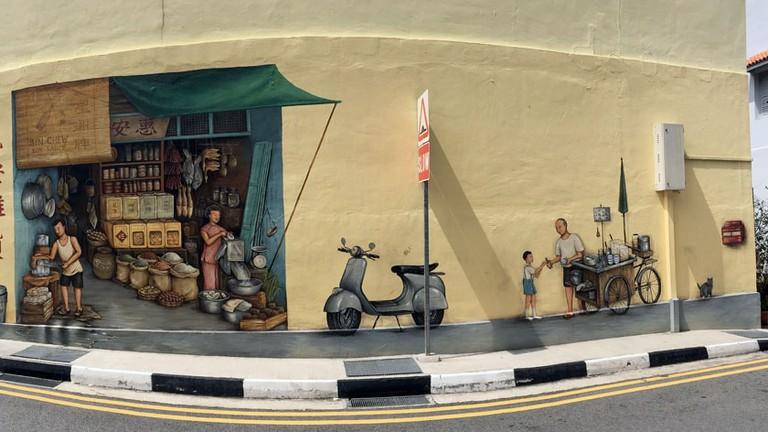 Singapore Mural Everton Road YipYC