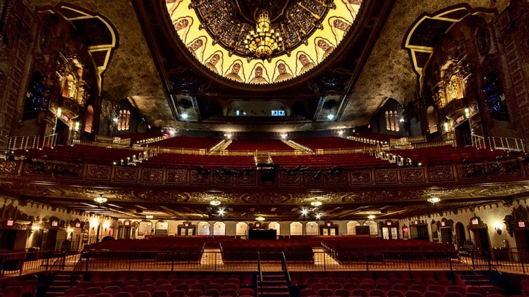 St. George Theater, stage view, Staten Island, New York, USA.