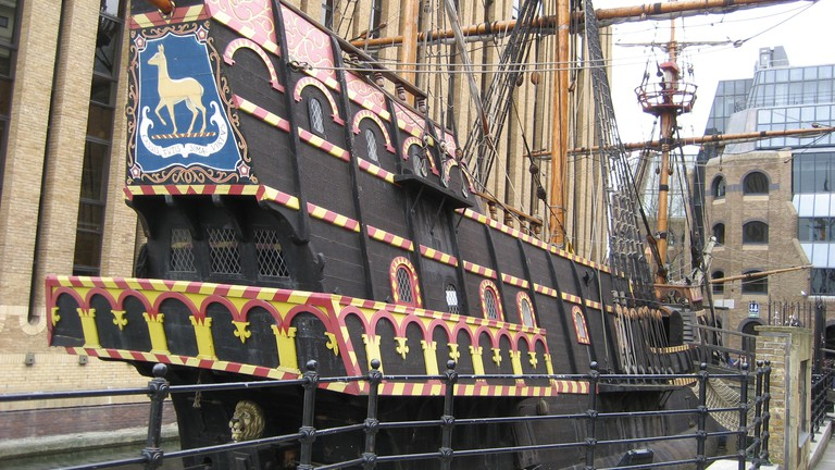 Francis-drake-galleon-southwark-london-uk