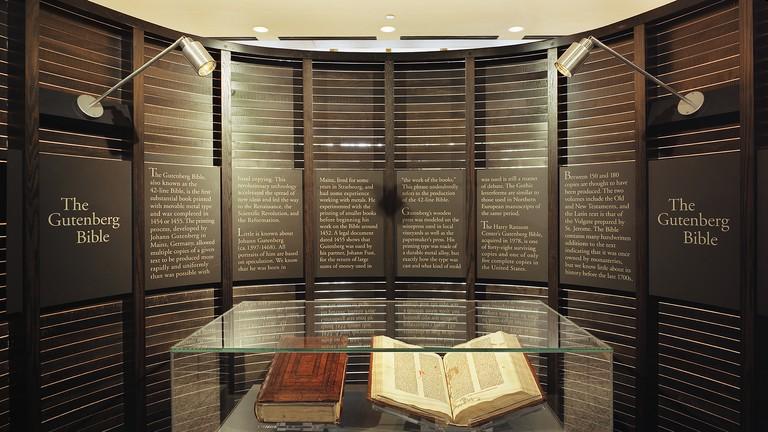 Gutenberg_Case Harry Ransom Center