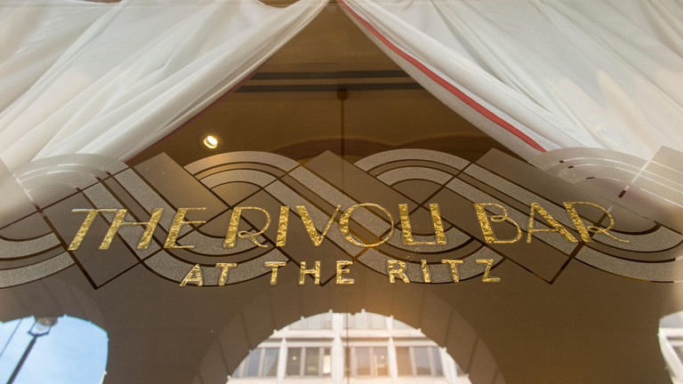 The Rivoli Bar is housed in The Ritz Hotel