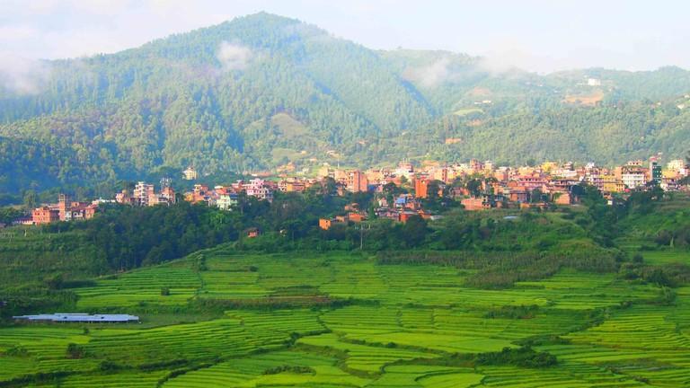 View across Pharping from the Neydo Monastery