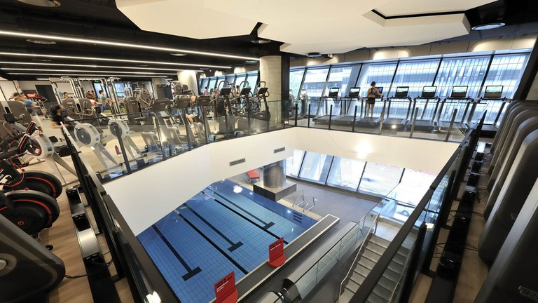 The gym floor at Virgin Active Collins Street