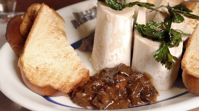 French classics, like bone marrow, reign supreme at Blue Ribbon Brasserie
