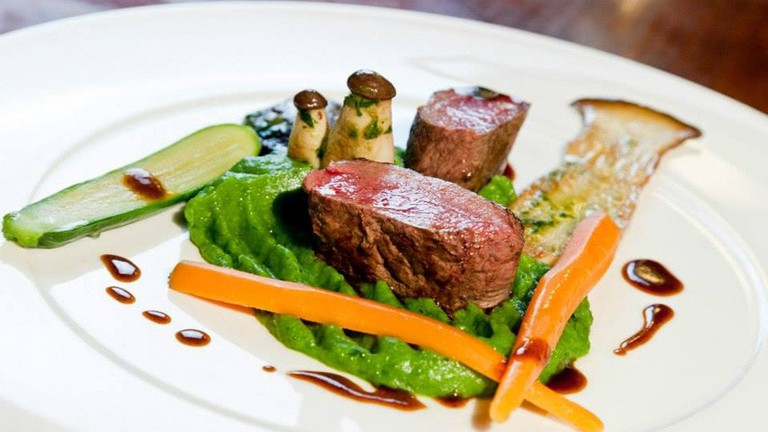 One of the beautiful dishes available at Restaurant Florian | © Parkhotel Graz