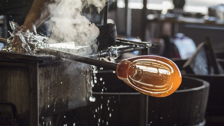 The glass-blowing process