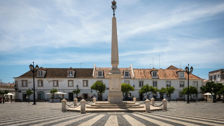 Marques de Pombal plaza, Vila Real de Santo Antonio, Algarve, Portugal