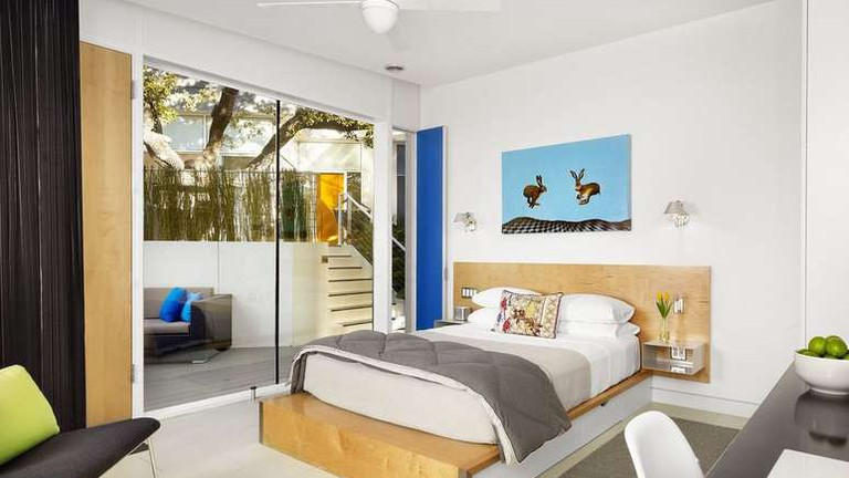 There are just seven rooms at the Kimber Modern Boutique Hotel