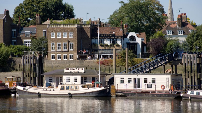 The Dove Public House alongside River Thames Hammersmith, London