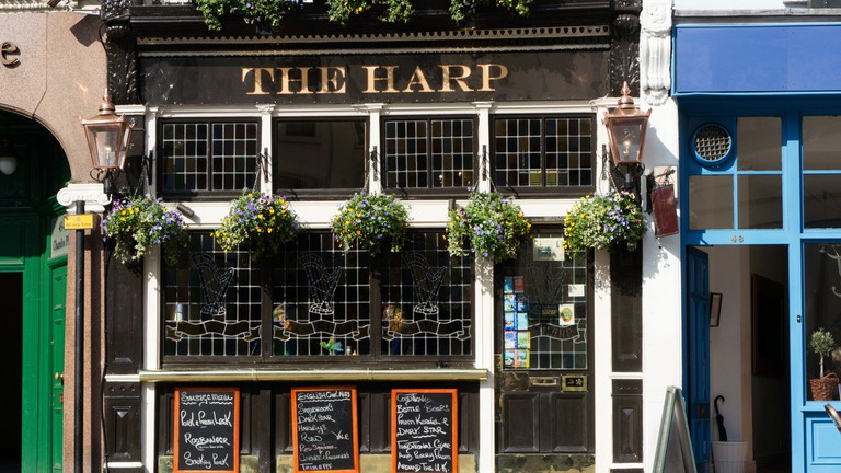 The Harp public house in Chandos Street, central London