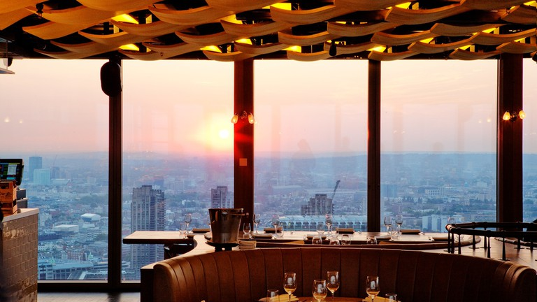 Duck & Waffle is located on the 40th floor of Heron Tower