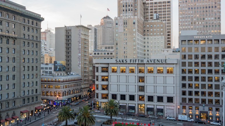 Late afternoon in Union Square, San Francisco, CA