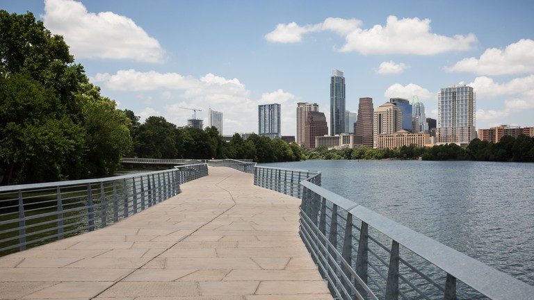 The Boardwalk Trail at Lady Bird Lake in Austin, Texas, USA.