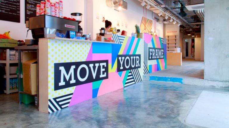 Frame's anti-desk yoga class promises to improve participants' posture