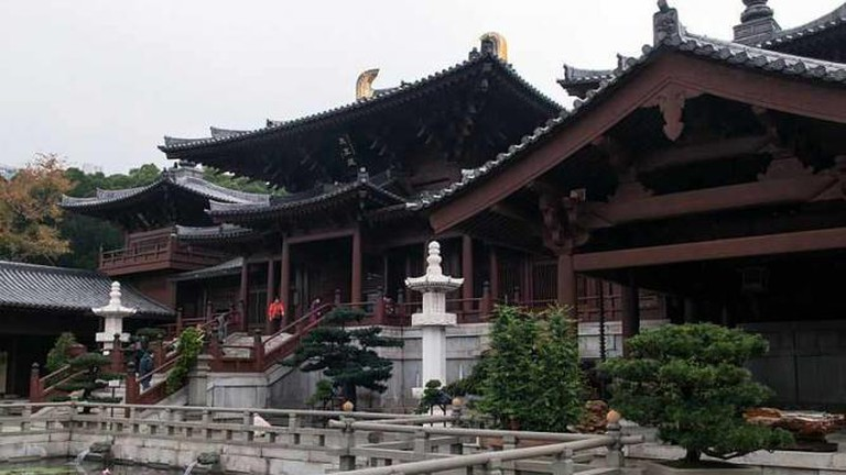 Chi Lin Nunnery is built in the Tang Dynasty style