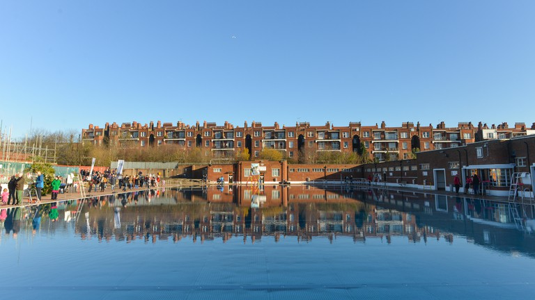 Parliament Hill Lido is on Hampstead Heath in the north of the city