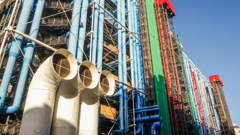 Centre Georges Pompidou, museum for modern art, Paris.