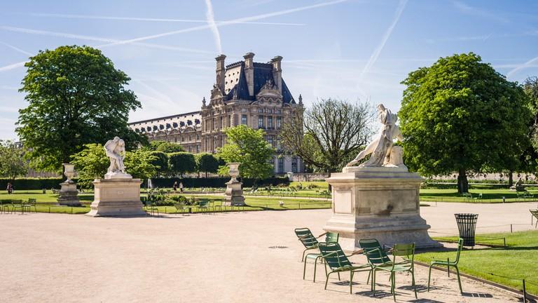 View of the Tuileries garden in Paris