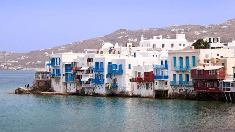 Island of Mykonos in the Cyclades Islands, Greece.