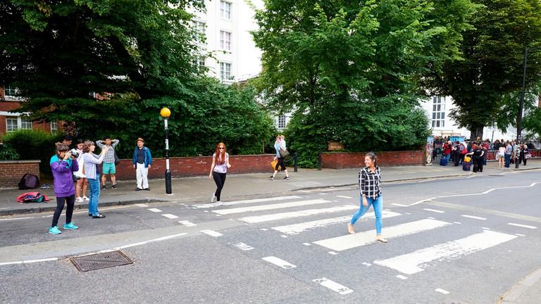 Zebra crossing outside Abbey Road Studios, London