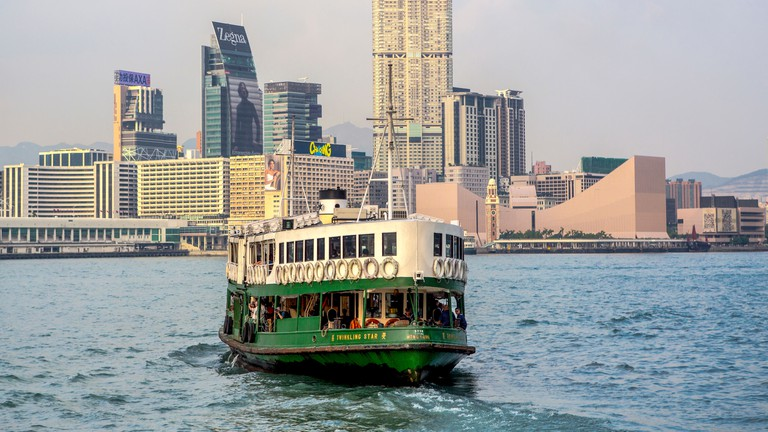 Hong Kong, China, Asia, City, Kowloon, District, Star Ferry, architecture, ferry, skyline, skyscrapers, boat