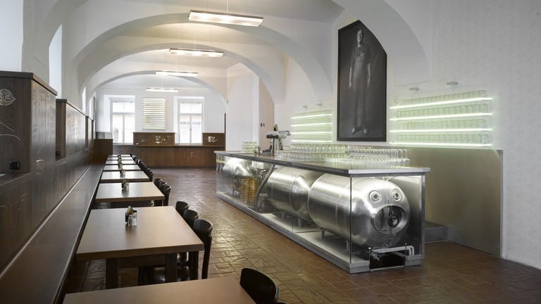 LokálDlouhááá offers a traditional beer hall experience