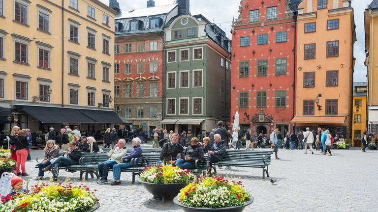 Stortorget's colourful facades belie the square's sobering history