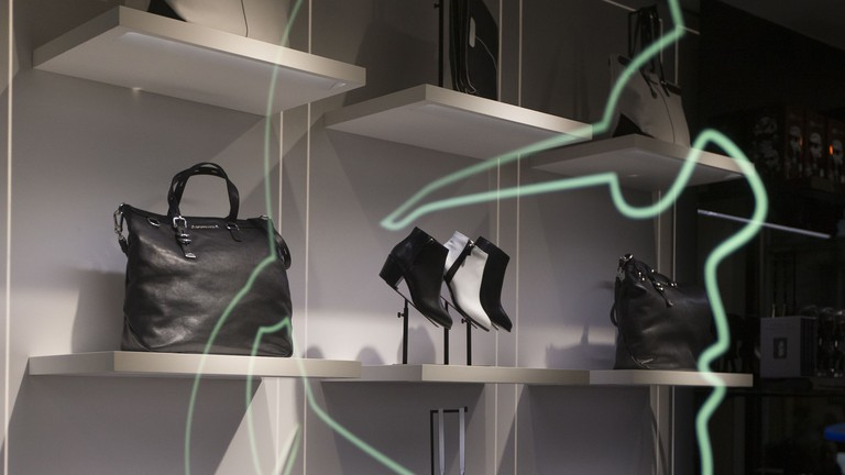 The Karl Lagerfeld store stands alongside well-established brands on the Boulevard Saint-Germain