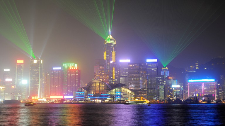 A Symphony of Lights show in Hong Kong