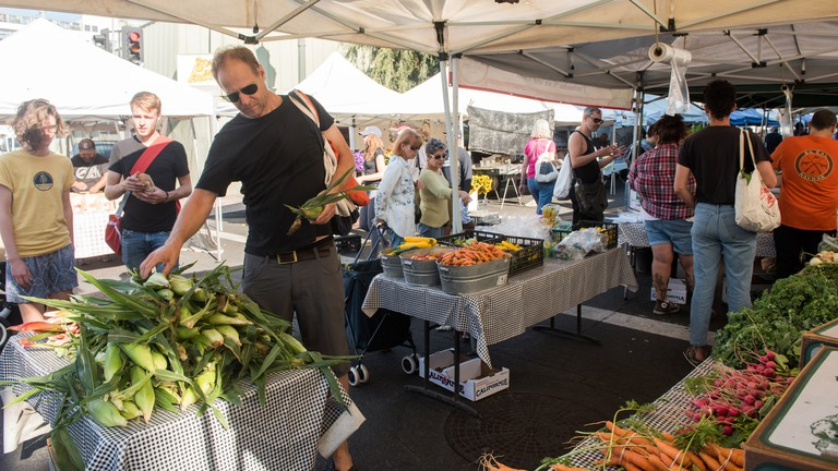 The Hollywood Farmers' Market in Los Angeles ( Editorial use only )