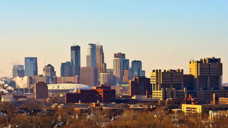 Minneapolis Skyline from Tower Hill Park ©Tony Webster