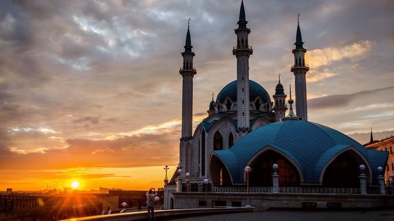 Sunset over the Kul Sharif Mosque
