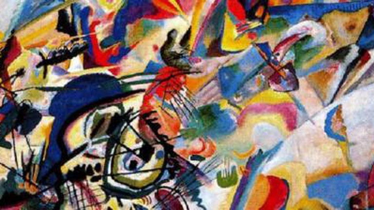 Kandinsky and the Harmony of Silence Painting with White Border