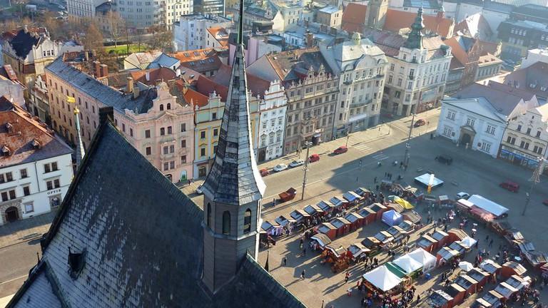 Vánoční Plzeň Katedrála sv Bartoloměje Pohled z Věže   ©  Michal Ritter/WikiCommons