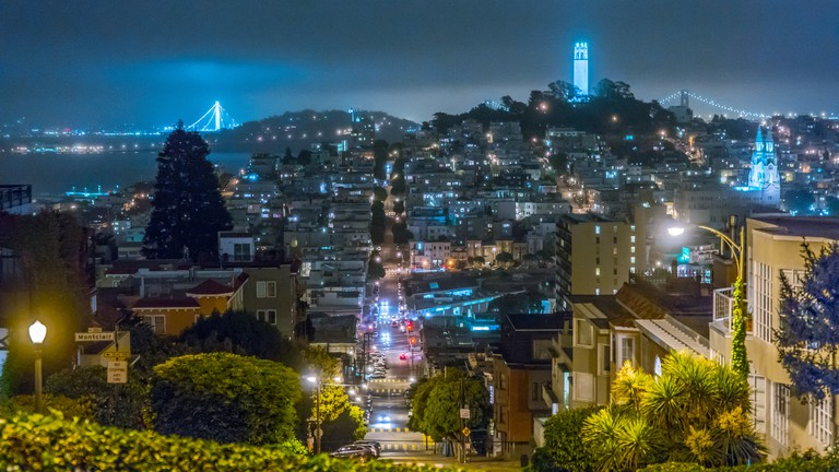 Russian Hill at night | © Nan Palmero/Flickr