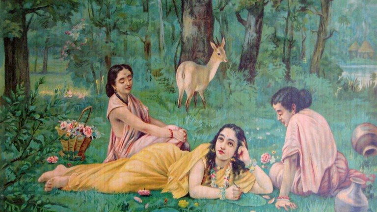Shakuntala and Two Women via Wiki Commons