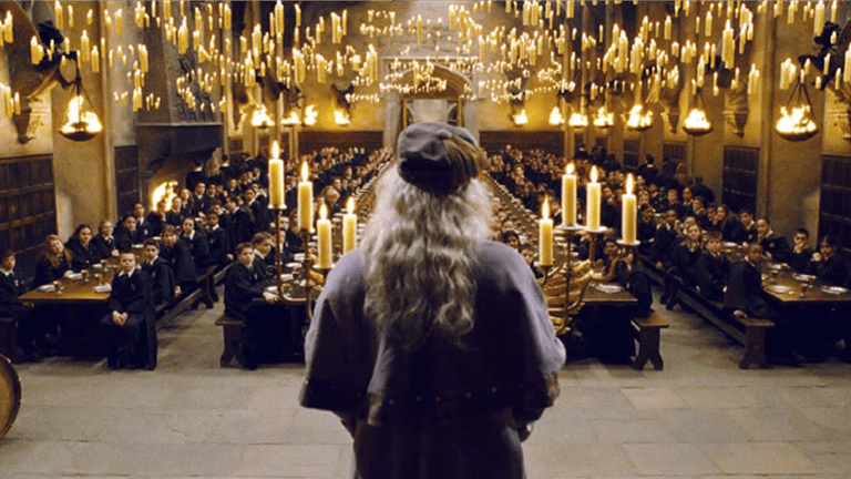 Dumbledore in the Great Hall | © Warner Bros.