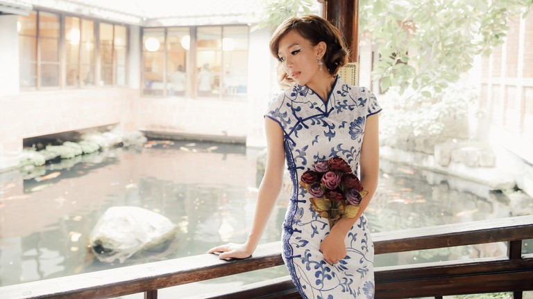 Image result for everyday women with chinese qipao