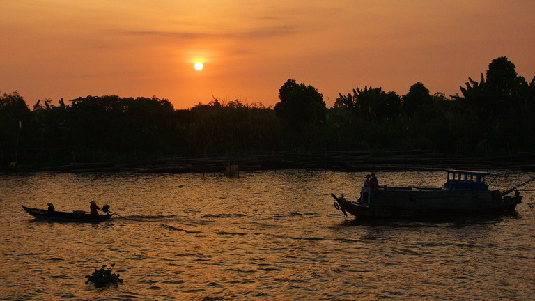 Sunset over the Mekong Delta