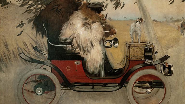 Ramon Casas and Pere Romeu in an Automobile CC0 Public Domain